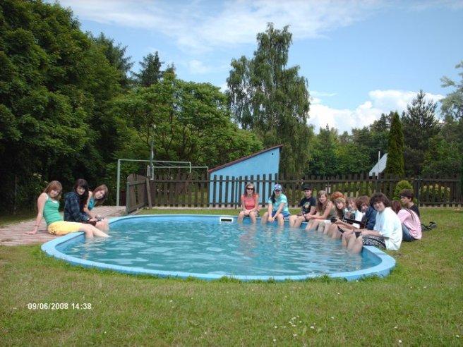Moje tříída v Lubenci u bazénu